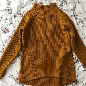 Madewell Yellow Turtleneck Sweater